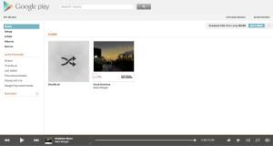 Главная страница Google Music