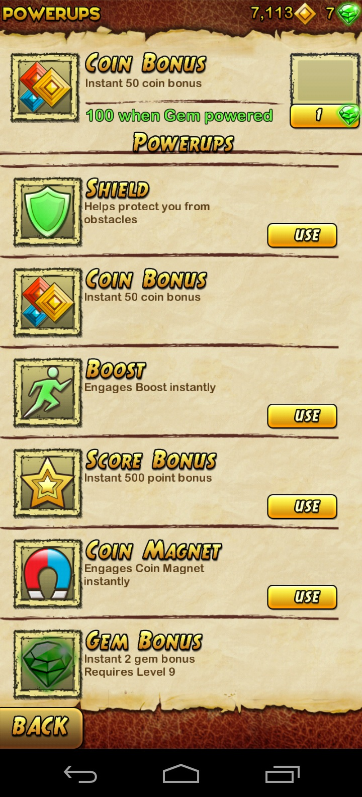 Lifebar bonuses in Temple Run 2