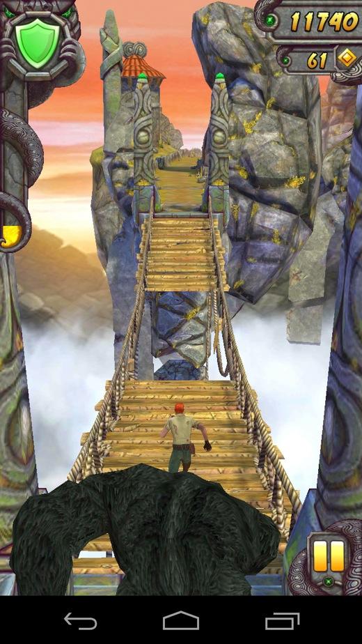 Мост над пропастью в Temple Run 2