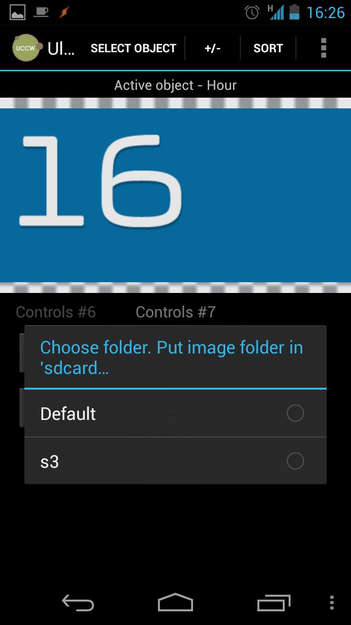 Использование изображений в элементах Hour и Minutes