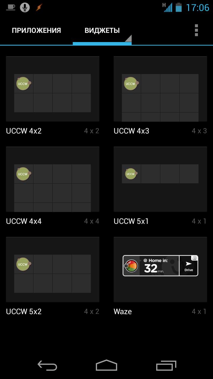 Шаблоны виджетов UCCW