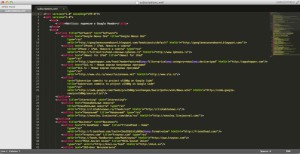 Экспортированные подписки в формате XML