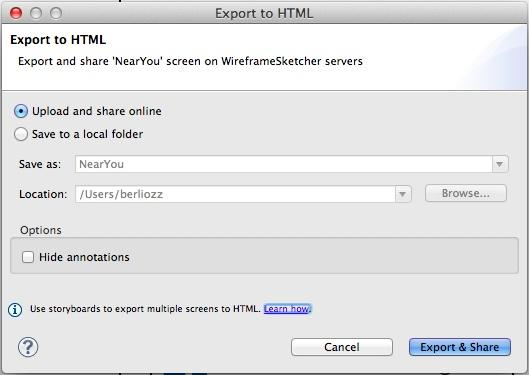 Экспорт в HTML в облако