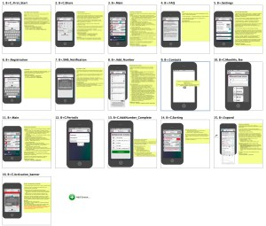Набор экранов приложения