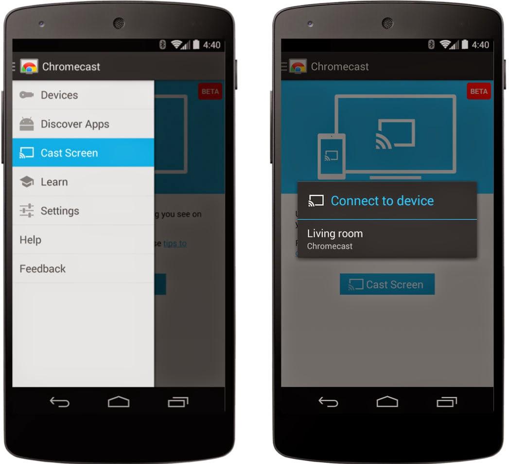 Chromecast в Android